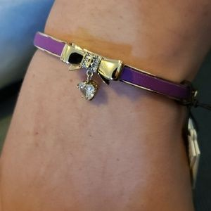 Juicy Couture Jewelry - Juicy Couture purple-bow bangle bracelet